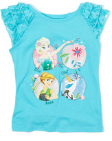 Freeze Frozen Turquoise Fever Lace-Sleeve Top - Kids
