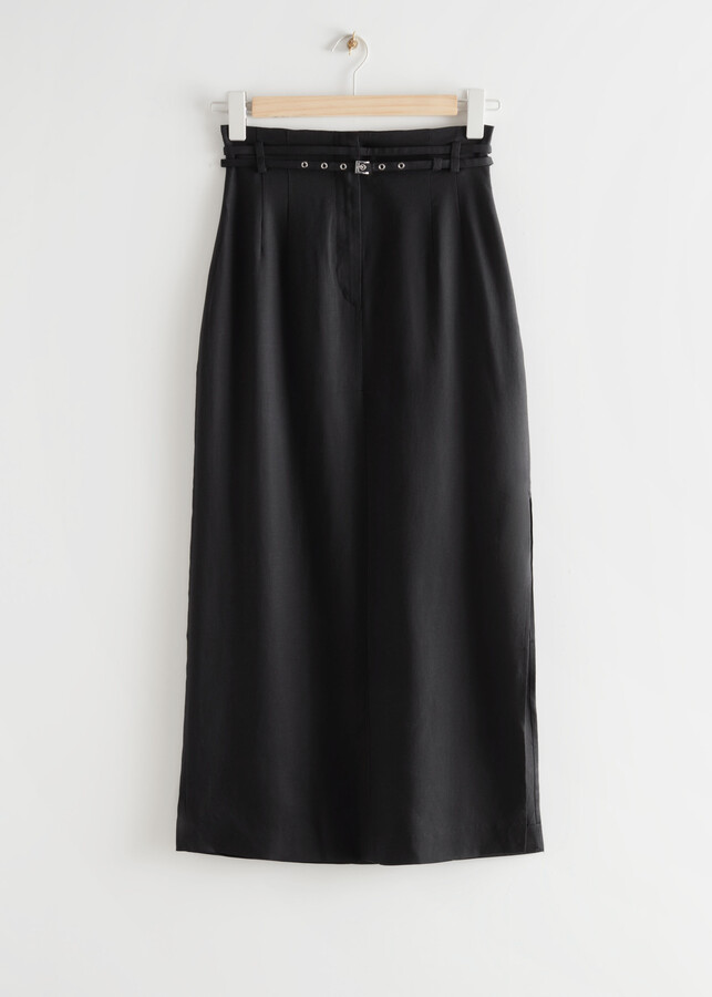 Thumbnail for your product : And other stories Belted Straight Midi Skirt