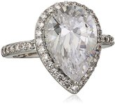 "Kenneth Jay Lane CZ by Classic"" Pear Cubic Zirconia Pave Frame Ring, Size 7, 6 CTTW"