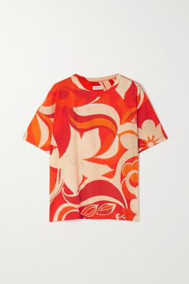 Dries Van Noten Oversized Floral-print Cotton-jersey T-shirt - Red