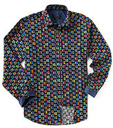 Bugatchi Classic-Fit Multi Car Print Long-Sleeve Woven Shirt