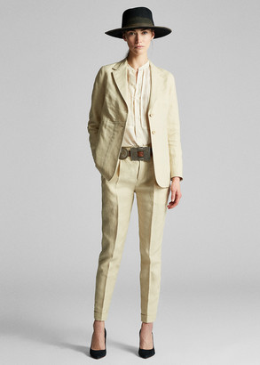 Ralph Lauren Slim Pleated Linen Trouser