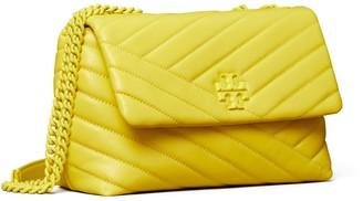 Tory Burch Kira Chevron Powder Coated Small Convertible Shoulder Bag