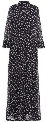 Ganni Rometty Floral-print Georgette Maxi Shirt Dress