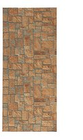 """All Design Mats AQ584-01-2x8 Cushioned Non-Slip/Rubber, Backing 3D Stone Print Aqua Runner/Doormat, 26"""" W x 96"""" L, Orange/Brown(Easy Cut to Fit in Your Hallway, Bathroom, or Kitchen)"""