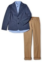 Wonder Nation Boys 4-14 & Husky Suit Set with Knit Blazer, Button-Up Shirt, and Pants, 3-Piece Outfit Set