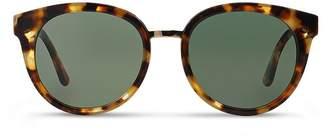 Tory Burch Women's Panama Round Polarized Sunglasses