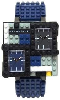 Nanoblocktime Traveler Metal Watch, Dark Blue
