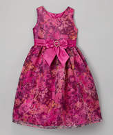 Jayne Copeland Mauve & Gold Buckle Dress - Toddler & Girls