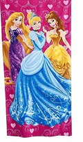 Disney Princess Cinderella Decorative Embroidery Cotton Bath Beach Towel- Aqua Blue