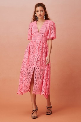 Keepsake LETTER MIDI DRESS Candy