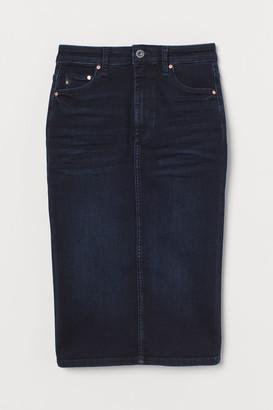H&M Shaping Denim Pencil Skirt - Blue