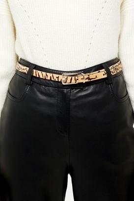 Topshop Leopard Print Skinny Belt