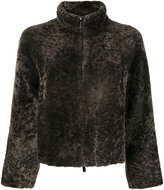 Drome zipped jacket - women - Lamb Skin/Cupro/Lamb Fur - S