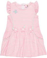 Florence Eiseman Stripe Knit Butterfly & Flower Dress, Size 2-4