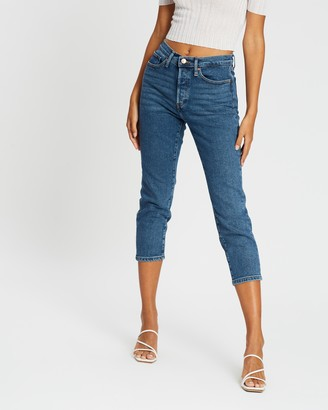 Only Josie High-Rise Slim Straight Jeans