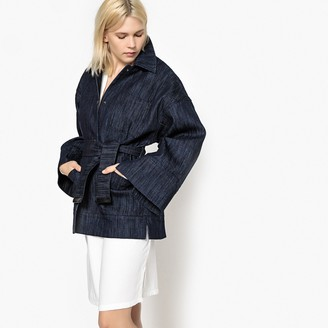 La Redoute Collections Denim Coat with Batwing Sleeves