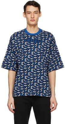 Kenzo Navy Jacquard Monogram Sport T-Shirt
