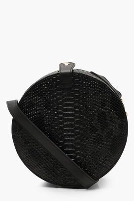 boohoo Structured Round Drum Cross Body Bag