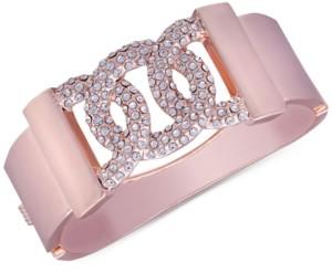 GUESS Rose Gold-Tone Pave Bangle Bracelet
