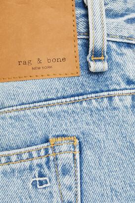Rag & Bone Engineer Distressed Mid-rise Tapered Jeans