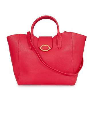Lulu Guinness Leather Luella Handbag Colour: RED, Size: One Size
