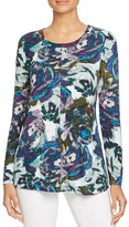 Cupio Abstract Floral Print Top