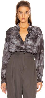 Raquel Allegra Cargo Blouse in Slate Tie Dye | FWRD