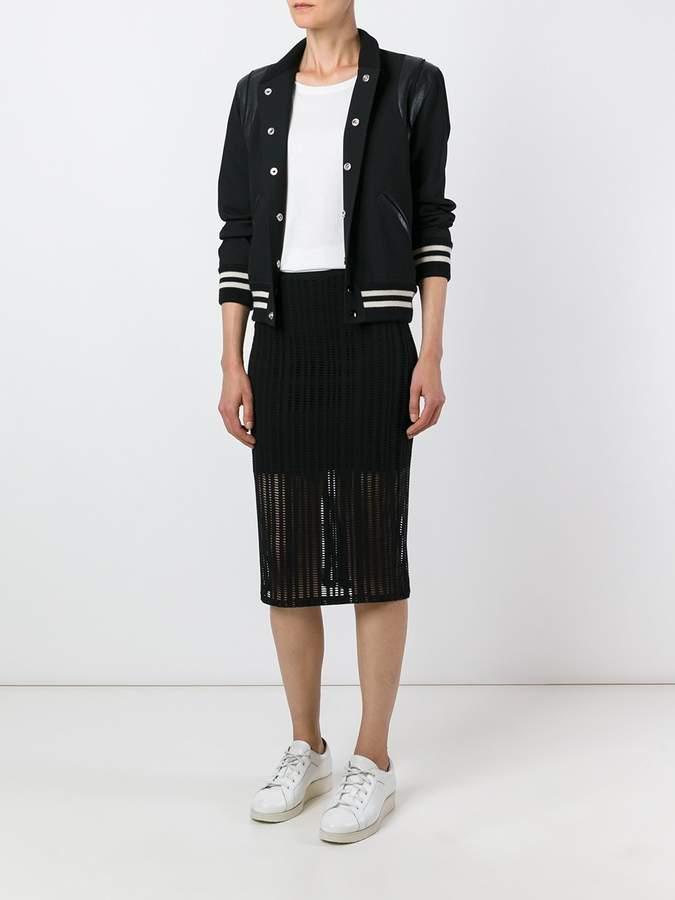 Alexander Wang perforated midi skirt