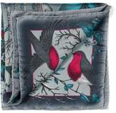 Aspinal of London The Dockery Robin Silk Twill Handkerchief (Midnight Blue)