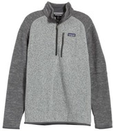 Patagonia Men's 'Better Sweater' Quarter Zip Pullover