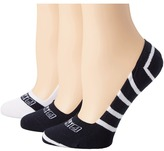 Sperry Signature Stripes 3 Pack Women's Crew Cut Socks Shoes