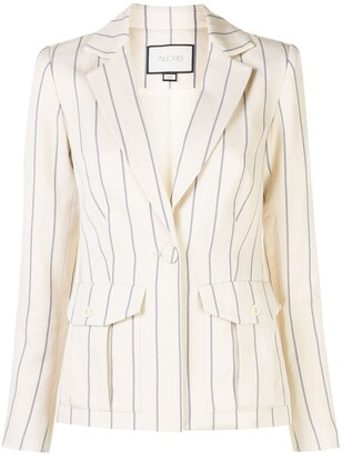 Alexis Enos striped jacket