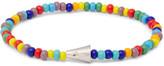 Luis Morais Glass Bead White Gold Bracelet - Blue