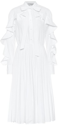 Valentino ruffled cotton-blend midi dress