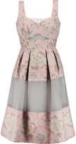 Erdem Layered organza and jacquard dress