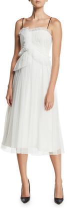 Jason Wu Collection Mini-Web Tulle Lace Cocktail Dress w/ Twist Straps