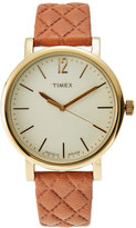 Timex TW2P78400 Gold-Tone & Brown Watch