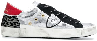 Philippe Model Paris Metallic Flat Low Top Sneakers