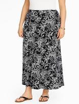 Talbots Knit Maxi Skirt - Tropical Paisley