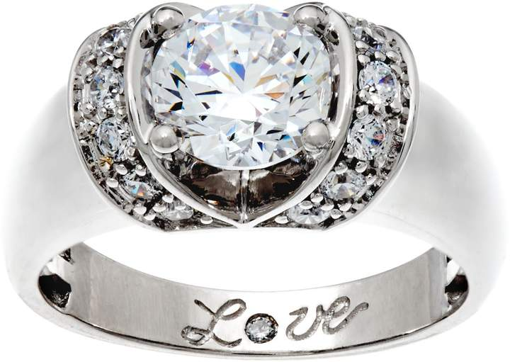 Diamonique 1.75 cttw Love Ring, 14K Gold
