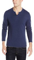 Buffalo David Bitton Men's Walleys Long Sleeve Solid Henley Sweater