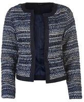Full Circle Womens Boucle Jacket Lined Coat Top Multi Tonal Woven