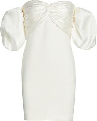 Cinq à Sept Teagan Off-The-Shoulder Puff-Sleeve Dress