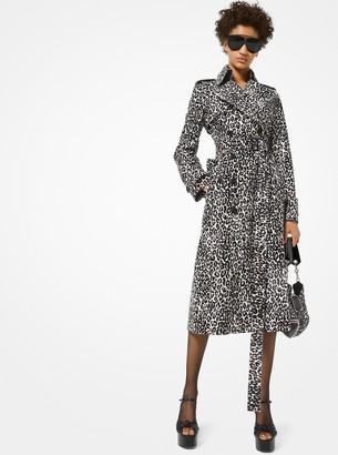 Michael Kors Leopard Calf Hair Trench Coat