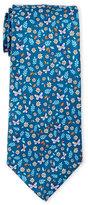 battistoni Butterflies & Flowers Silk Tie