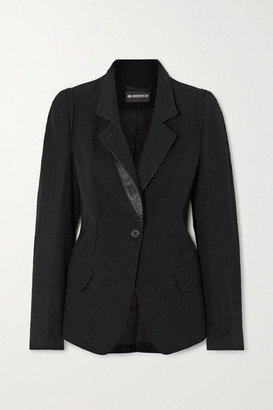 Ann Demeulemeester Satin-trimmed Wool And Cotton-blend Twill Jacket - Black