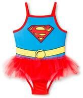 Superman Toddler Girls' Supergirl Tutu 1-Piece Swimsuit - Red