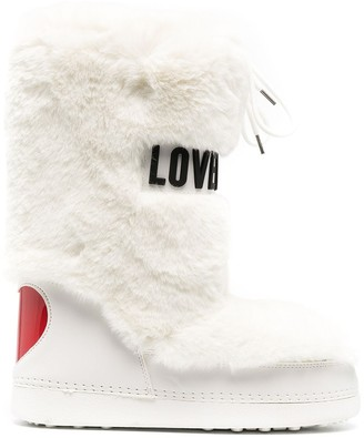 Love Moschino Faux Fur Snow Boots