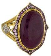 Jude Frances 18K Ruby, Sapphire, & Diamond Ring